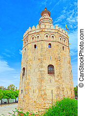 Tower of Gold (Torre del Oro) is a military watchtower on ...