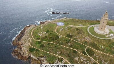 Tower of Hercules lighthouse located in the city of La ...