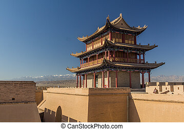 Tower of Jiayuguan Fort, Gansu Province, Chi