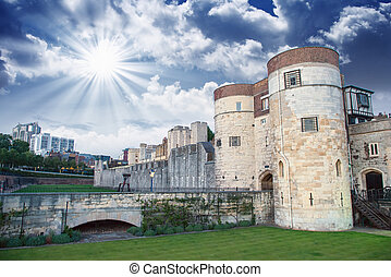 Tower of London Architecture , Close up England - UK