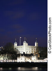 Tower of London at Night - Tower of London seen from North...
