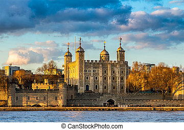 Tower of London at sunset, England, Famous Place,...