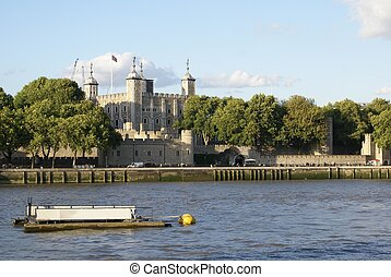 Tower of London, River Thames bank,