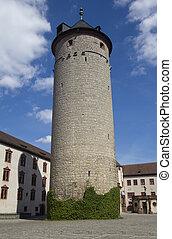Tower of Marienburg castle, Wurzburg