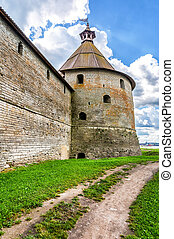 Tower of medieval Oreshek fortress