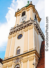 tower of Old Town Hall in Bratislava