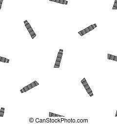 Tower of pisa pattern seamless black - Tower of Pisa pattern...