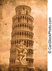 Tower of Pisa - Retro look of the Tower of Pisa