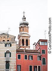 Tower of San Bartolomeo Church in Venice.