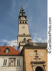Tower of sanctuary in Jasna Gora - Czestochowa, Poland.