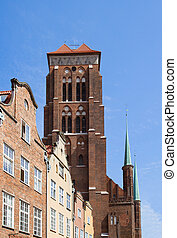 Tower of St Mary's church, Gdansk