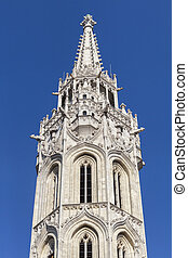 Tower of St. Matthias Church in Budapest