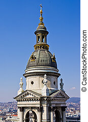 Tower of st. Stephen Basilica in Budapest, Hungary