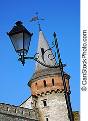 Tower of the ancient castle and lantern