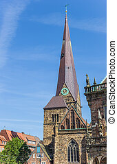 Tower of the church of our lady in Bremen, Germany