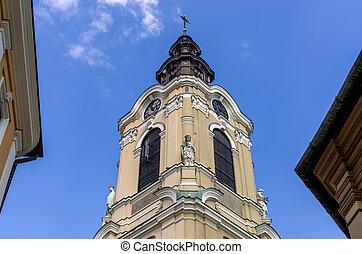 Tower of the church, Przemysl, Poland