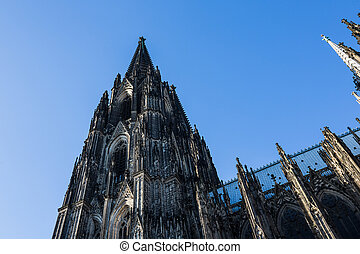 Tower of the cologne cathedral at summer