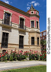 Tower of the historic mansion Huerto Ruano in Lorca