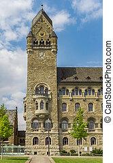 Tower of the Oberlandesgericht building in Koblenz