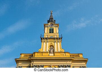 Tower of the Roman Catholic Teresa of Avila Parish Church in Budapest