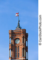 Tower of the Rote Rathaus in Berlin