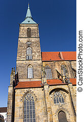Tower of the St. Andreas church of Hildesheim, Germany