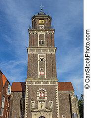 Tower of the St. Lambert church in Coesfeld, Germany
