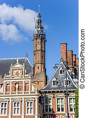 Tower of the town hall in Haarlem