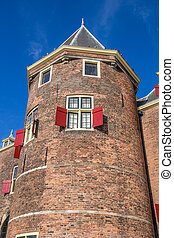 Tower of the weigh house in Amsterdam