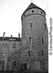 Tower of town wall in Tallinn