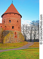 Tower of Trakai island castle museum