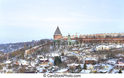 Tower of Veselukha, the Pokrovsky temple and the Theological...