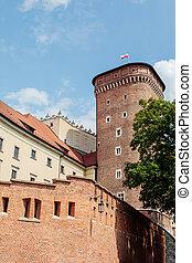 Wawel Royal Castle in Krakow, Poland - Tower of Wawel Royal...