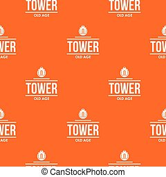 Tower old age pattern vector orange for any web design best