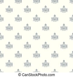 Tower old age pattern vector seamless repeat for any web...