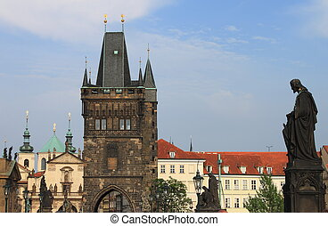 Tower on Charles Bridge, Prague