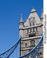 Tower on Tower Bridge, London.