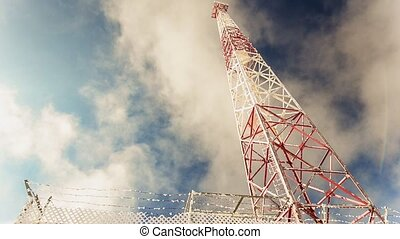 Tower over blue sky - Realtime HD footage with...
