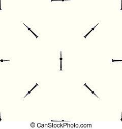 Tower pattern seamless black