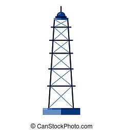 tower plant of oil price icon