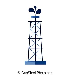 tower plant with drops of oil price icon