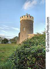 Tower ruin - old tower in Clifton Village in Bristol in...