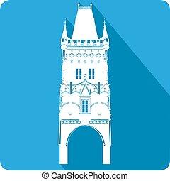 tower, vector illustration