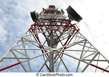 Tower with cell phone antenna