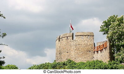 tower with Hungarian flag Pecs