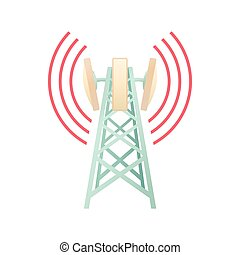 Tower with telecommunications equipment icon