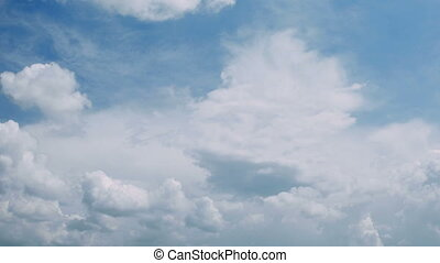 Cloud Billows Time Lapse - Towering Cumulus Cloud Billows...