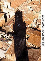 Towering shadow