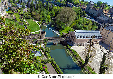 Towers and Walls of Luxembourg City Castle