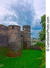 Towers in Chateau Angers Castle